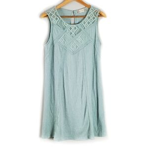 Altar'd State Mint Green Lace Dress Size Medium